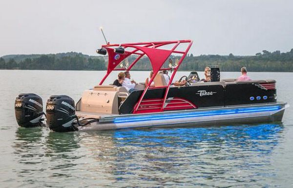 2019 Tahoe Pontoon Vision Rear J Lounge - 27'