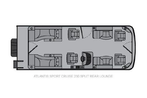 Landau Atlantis 230 Cruise Split Rear Lounge image
