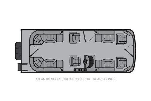 Landau Atlantis 230 Cruise Sport Rear Lounge image
