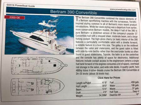 Bertram 390 Convertible image