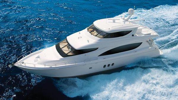 Hatteras 80 Motor Yacht Sky Lounge Manufacturer Provided Image