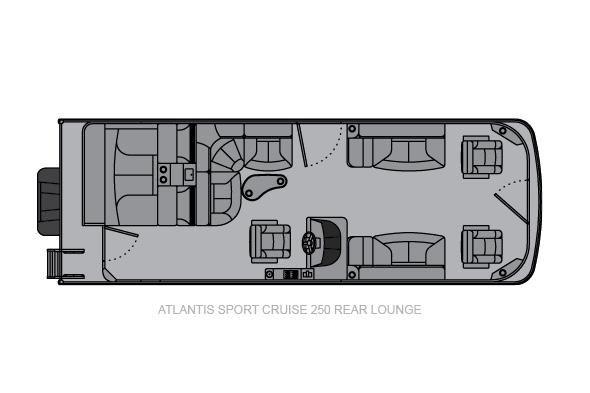 Landau Atlantis 250 Cruise Rear Lounge - main image