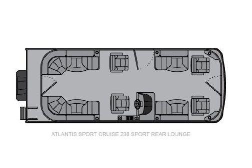 Landau Atlantis 250 Cruise Sport Rear Lounge image