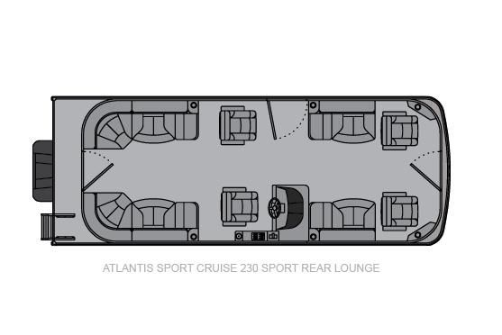 Landau Atlantis 250 Cruise Sport Rear Lounge image