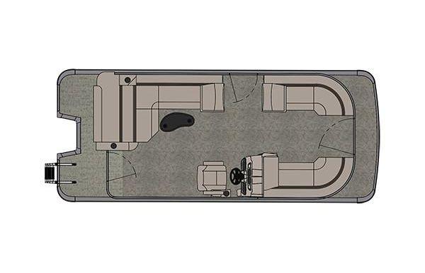 2019 Avalon LSZ Cruise Rear Bench - 22'