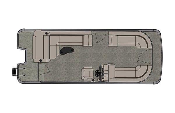 2019 Avalon LSZ Cruise Rear Bench - 24'