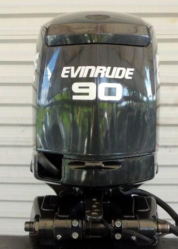 Evinrude  E-TEC 90hp 25 inch Shaft DI, Factory powerhead w/ 0 Hours .. Warranty til 9/20/2021