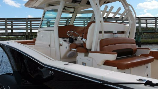 Scout 350 LXF Profile at Dock