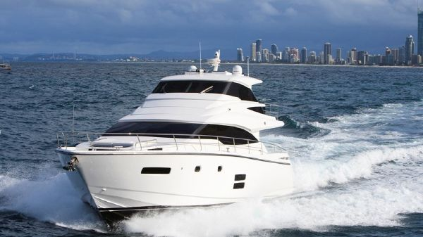 Johnson 65 Motor Yacht Sky-Lounge Port Fwd Quater 2