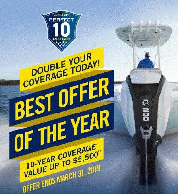 Evinrude  E-TEC G1 & G2 10 Year Warranty .. or 7 Year and Free Rigging .. 25-300hp, Ends 4/06/2019 - main image