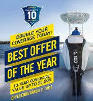 Evinrude  E-TEC G1 & G2 10 Year Warranty .. or 7 Year and Free Rigging .. 25-300hp, Ends 4/06/2019