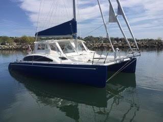 Maine Cat Custom MC 33 MC30 At anchor