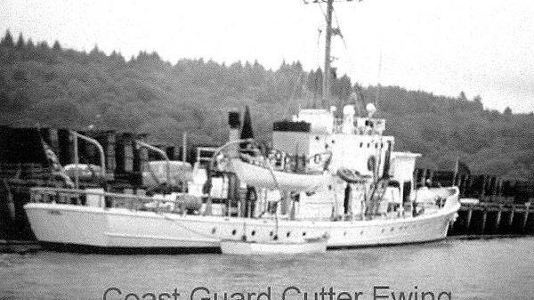 Custom USCG Steel Cutter Historical Photo - Dockside