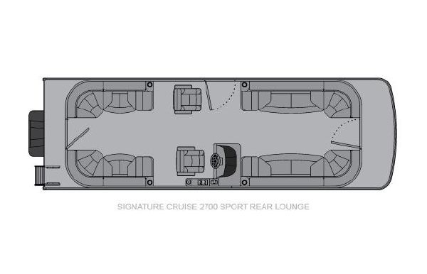 2020 Landau Signature 2700 Cruise Sport Rear Lounge