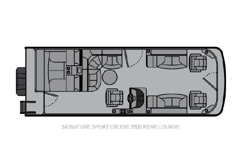 Landau Signature 2500 Sport Cruise Rear Lounge image