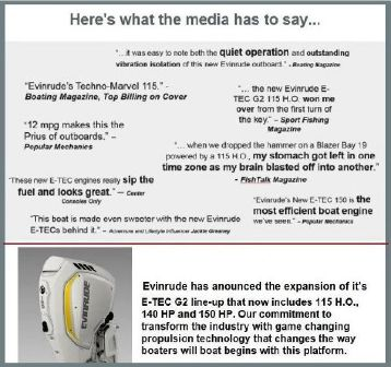 All New Evinrude E-TEC G2 3 Cylinder 115hp HO .. 140hp .. 150hp  image