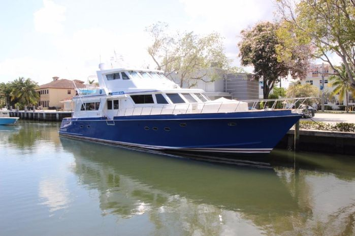 1987 Huckins Enclosed bridge Motor yacht