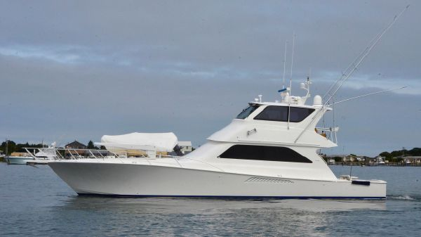 Viking Yacht 61 Enclosed Bridge Port Side