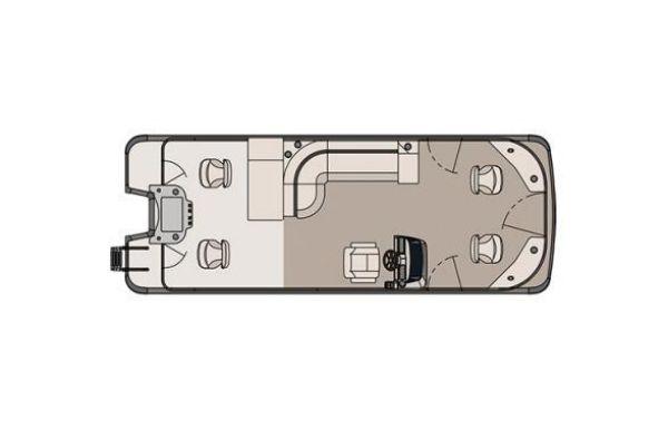 2018 Tahoe Pontoon GT Quad Fish - 23'