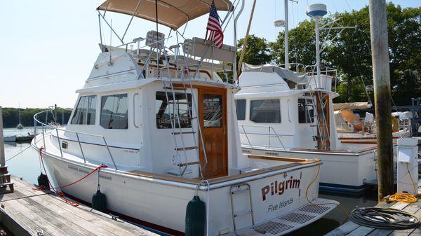 Cape Dory Flybridge Cruiser In Her Slip