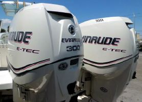 Evinrude  E-TEC 300hp 25 inch Shaft  Direct Injected 2-Stroke Outboard Motors Counter Rotating Pair