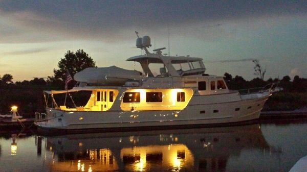 Fleming Pilothouse Motoryacht Dusk