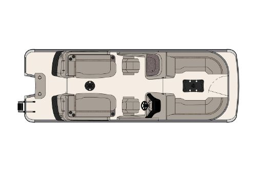 Tahoe Pontoon Grand Tahoe Quad Lounge Windshield 25' image
