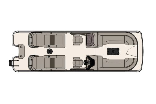 Tahoe Pontoon Grand Tahoe Rear Lounge Windshield 27' image
