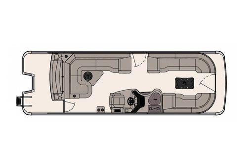 Tahoe Pontoon Vision Rear J Lounger 27' image