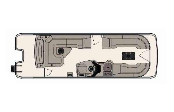 2020 Tahoe Pontoon Vision Rear J Lounger 27'