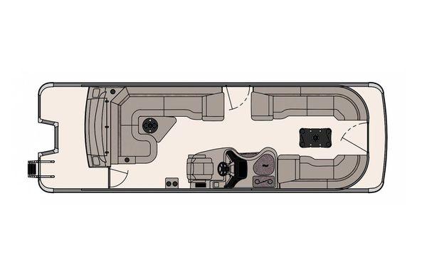 2020 Tahoe Pontoon Vision Rear J Lounger 27'