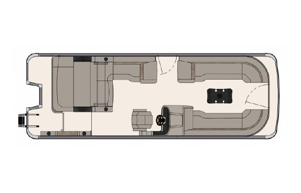 2020 Tahoe Pontoon Cascade Platinum Versatile Rear Bench 25'