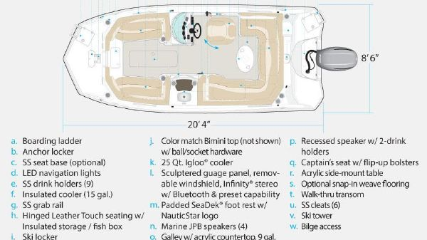 NauticStar 203SC Sport Deck Manufacturer Provided Image