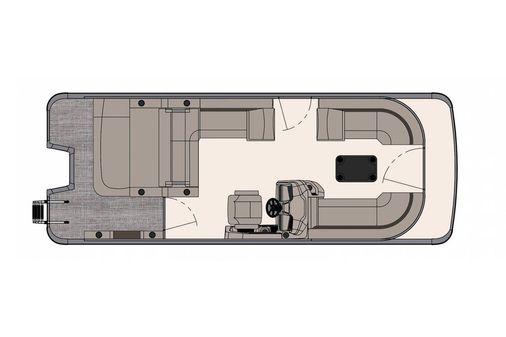 Tahoe Pontoon LTZ Versatile Rear Bench 24' image