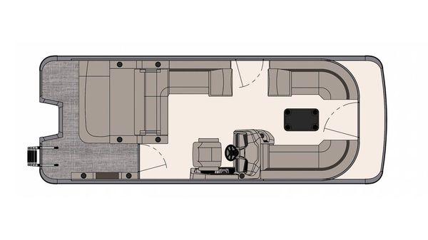 Tahoe Pontoon LTZ Versatile Rear Bench 24'