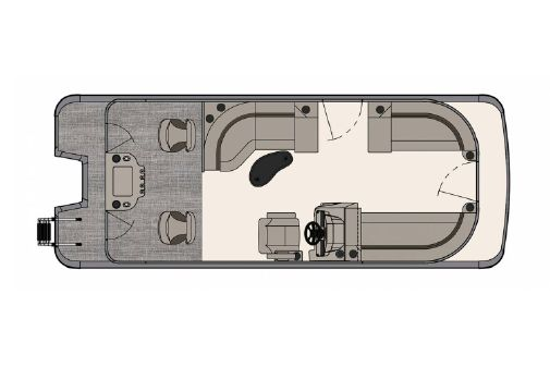 Tahoe Pontoon LT Rear Fish 22' image