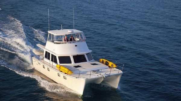 Maine Cat Power Catamaran Flybridge Efficient, comfortable cruiser