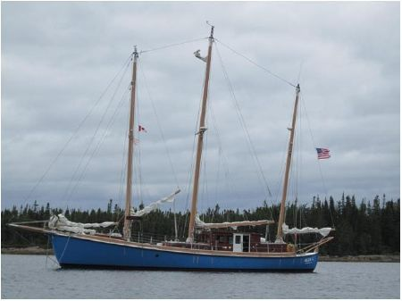 Expedition three masted marconi rigged Schooner image