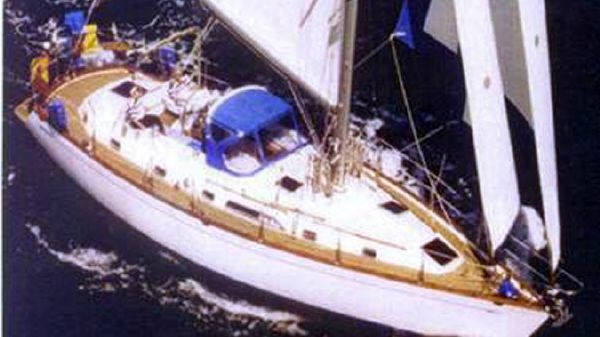 Tayana 48 Aerial Running Shot - Sister Ship