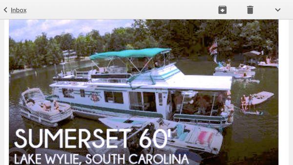 Sumerset 14' x 60' Houseboat image