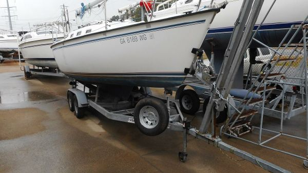 Precision 23 Starboard View on Trailer