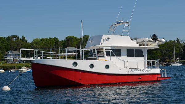 Great Harbour N37 Navigator Trawler On Her Mooring