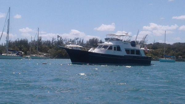 Halvorsen 51 Moored Bahamas