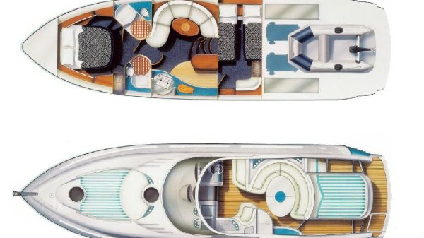 Fairline Targa 43 Fairline Targa 43 Layout