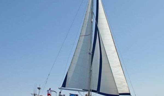 Tayana Cutter Rig Center Cockpit Nefertiti under sail