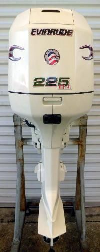 Johnson with Evinrude Hood 225hp 25 inch Shaft Carbureted Outboard Motor