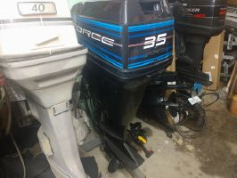Force 35 Tiller/Electric  Long shaft 20