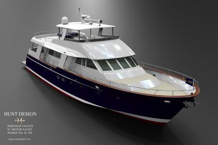 2019 Heritage Yachts Palm Beach 82 Flush Deck Motor Yacht