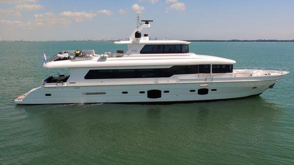 TARRAB 96 Tri-Deck Motor Yacht Starboard Side Profile