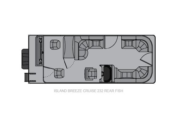 2021 Landau Island Breeze 232 Cruise Rear Fish